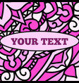 a beautiful leaflet with a pink mandala pattern vector image vector image