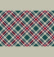 abstract check plaid diagonal seamless fabric vector image vector image