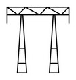 ac electric tower icon outline style vector image vector image