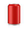 aluminum can mockup vector image vector image
