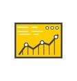 Analysis Stock Exchange Rates on Monitors vector image vector image