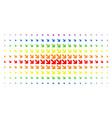 arrow down right spectrum halftone array vector image vector image