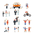 assortment couple icons vector image