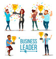 attainment concept set business man and vector image vector image