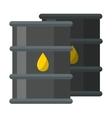 Big industrial oil tanks vector image