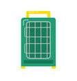 bird travel cage icon in flat style vector image vector image