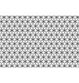 black snowflake on a white background vector image