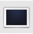 blank clear photo frame isolated on back vector image vector image