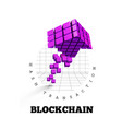 blockchain in the form vector image