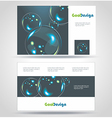 Blue Modern Business-Card Set EPS10 Design vector image