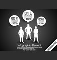 business man infographic option three 2 grey vector image vector image