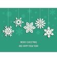 Christmas decoration from snowflakes vector image vector image