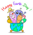 colorful design earth day collection vector image vector image