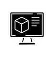computer design icon black vector image vector image
