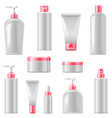 Cosmetic Packaging Icons vector image vector image