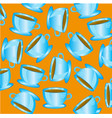 cup blue with drink vector image vector image