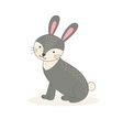 Cute cartoon rabbit isolated on white background vector image vector image