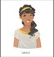 digital funny cartoon greek vector image vector image