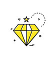 dimond icon design vector image