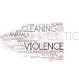 domestic word cloud concept vector image vector image