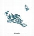 Doodle sketch of Dhekelia map vector image vector image