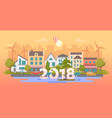 eco city - modern flat design style vector image vector image