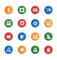 Electricity icons set vector image vector image