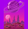 fantasy concept space cartoon game background vector image