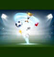 football world cup and soccer ball vector image
