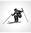 Giant Slalom Ski Racer silhouette vector image
