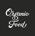 hand drawn lettering organic food ink vector image vector image