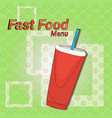 ice cola street festival fast food menu seamless vector image