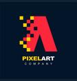 letter a pixel technology creative logo symbol vector image vector image