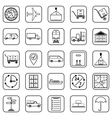 Logistics contour icons vector image vector image