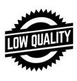 low quality stamp on white vector image vector image
