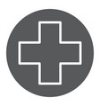 medical point glyph icon medicine and hospital vector image vector image