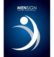 men sign vector image