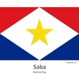National flag of Saba with correct proportions vector image vector image