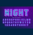 neon light alphabet extra glowing font type vector image