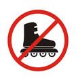 no roller skates sign icon rollerblades symbol vector image vector image