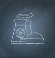 nuclear power plant chalkboard sketch vector image vector image