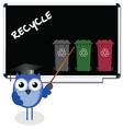 owl blackboard recycle vector image vector image
