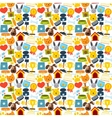 Pets seamless pattern vector image