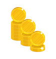 piles gold coins cartoon icon vector image vector image