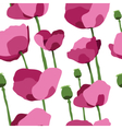 Pink poppies seamless pattern vector image vector image