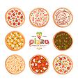 Pizza varieties vector image vector image