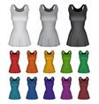 plain female netball dress template vector image