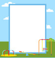 playground colorful posters vector image vector image