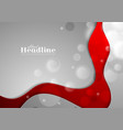 red and grey abstract wavy background vector image