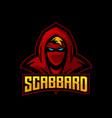 red ninja e sports logo design vector image vector image